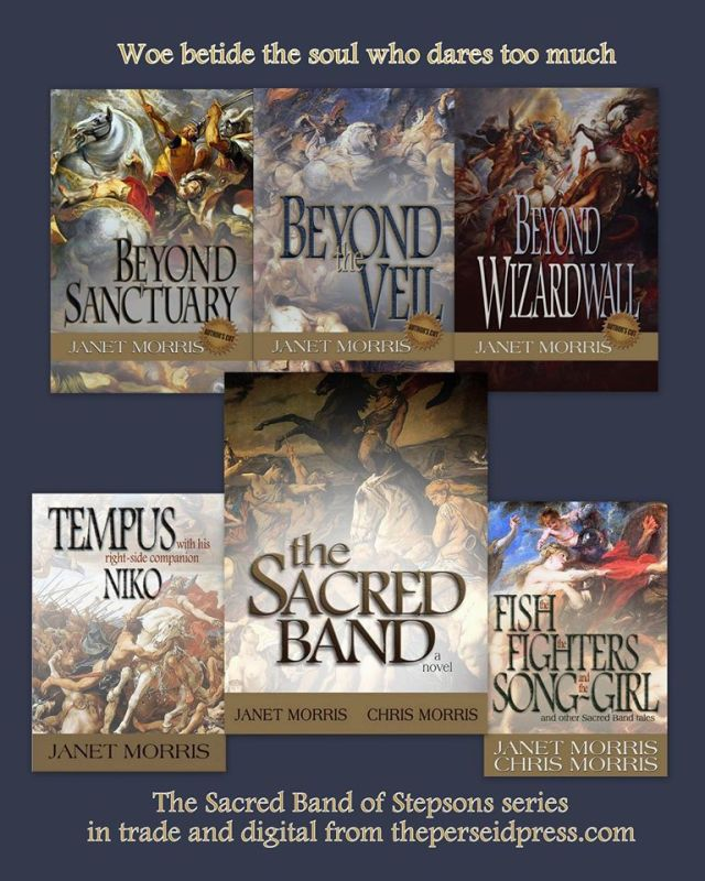 Perseid Press editions of the Sacred Band's adventures in Sanctuary and Beyond...