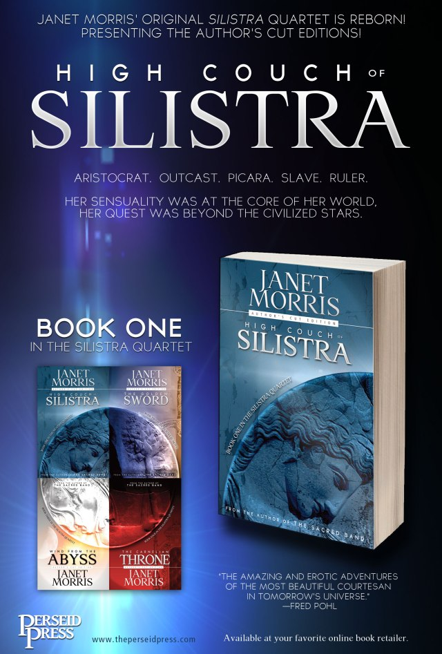 The Author's Cut of High Couch of Silsitra, available in hardcover, trade paper, and digital format from Perseid Press